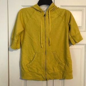 ANN TAYLOR LOFT Small Mustard Yellow Sweatshirt